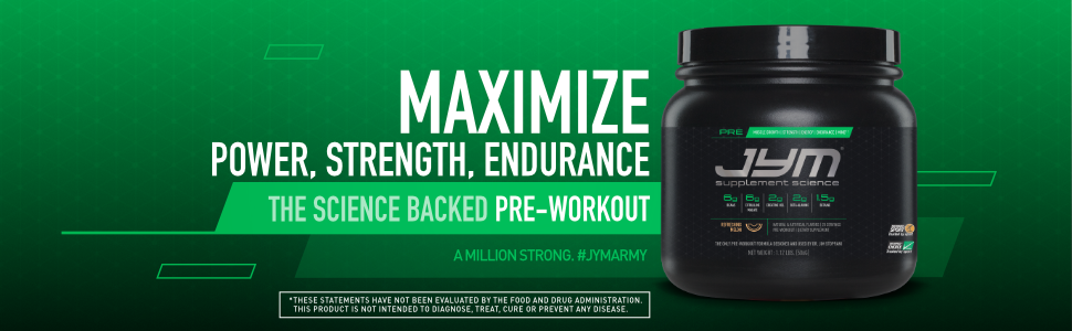 Power strength endurance. Best science based pre-workout.