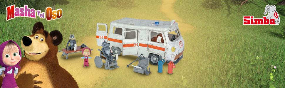 Playset Ambulancia de Masha y el Oso con 3 figuras y accesorios ...