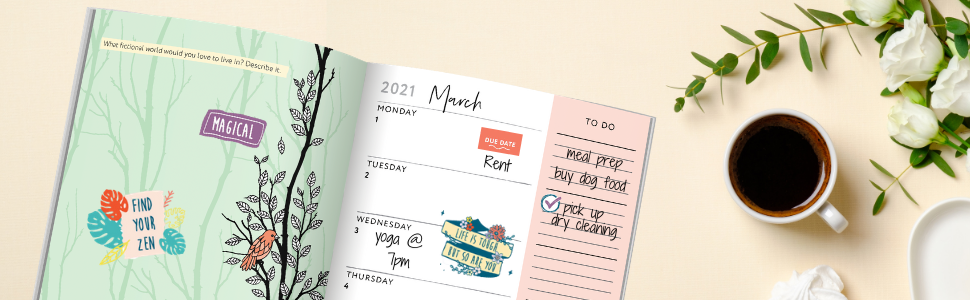 Scene to show how you can use these planner stickers
