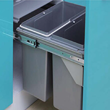 durable kitchen waste bin, pull out rubbish bin