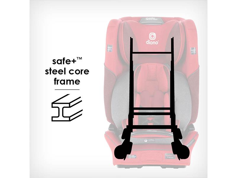Steel core steel frame car seat