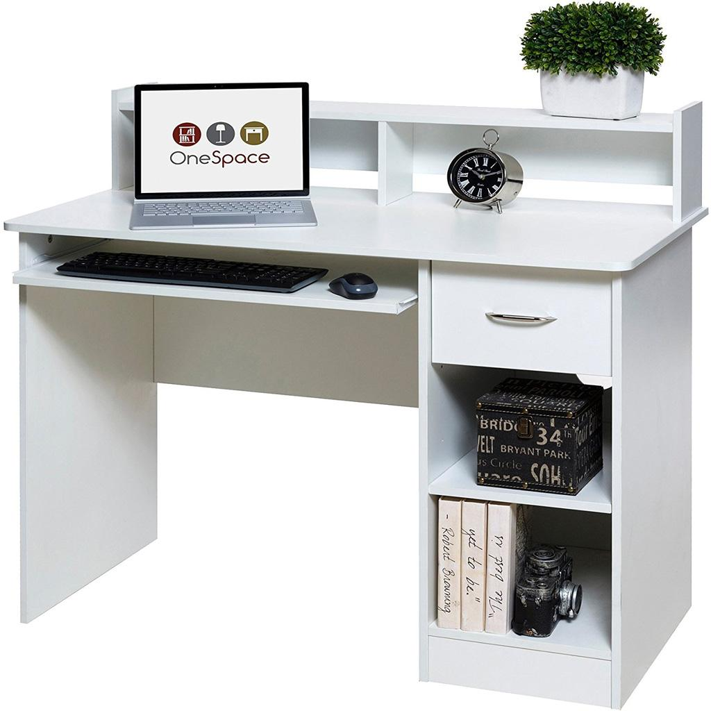 Amazon.com: OneSpace Essential Computer Desk, Hutch With