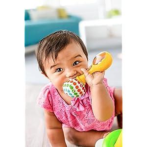 Fisher-Price BLT33 Rattle Rock Maracas Children Babies Fun Toy Play Game Skills