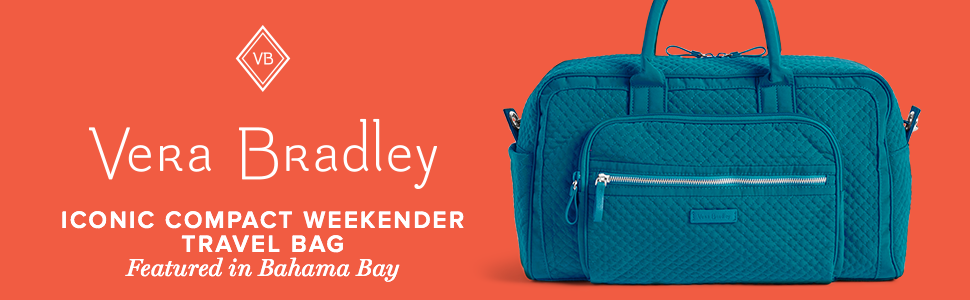 Amazon.com  Vera Bradley Iconic Compact Weekender Travel Bag Vera ... 8c073a68c3