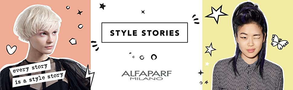Alfaparf Milano Style Stories Hair Styling Products Mousse Hairspray Gel Pomade Blow Dry Cream