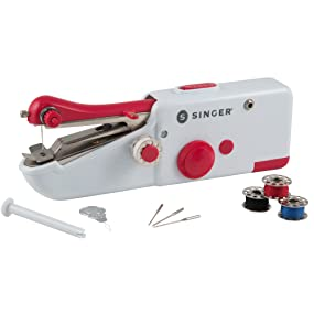 singer portable sewing machine mini tailor hem battery fabric alter clothes handheld cordless