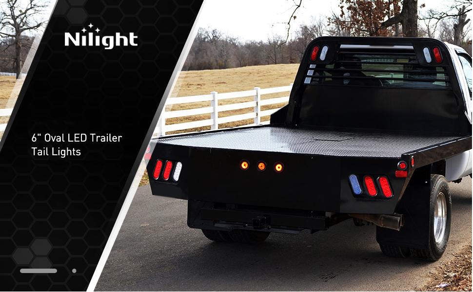 """6"""" trailer tail light, 6"""" oval tail light, 6"""" oval stop turn tail reverse light"""