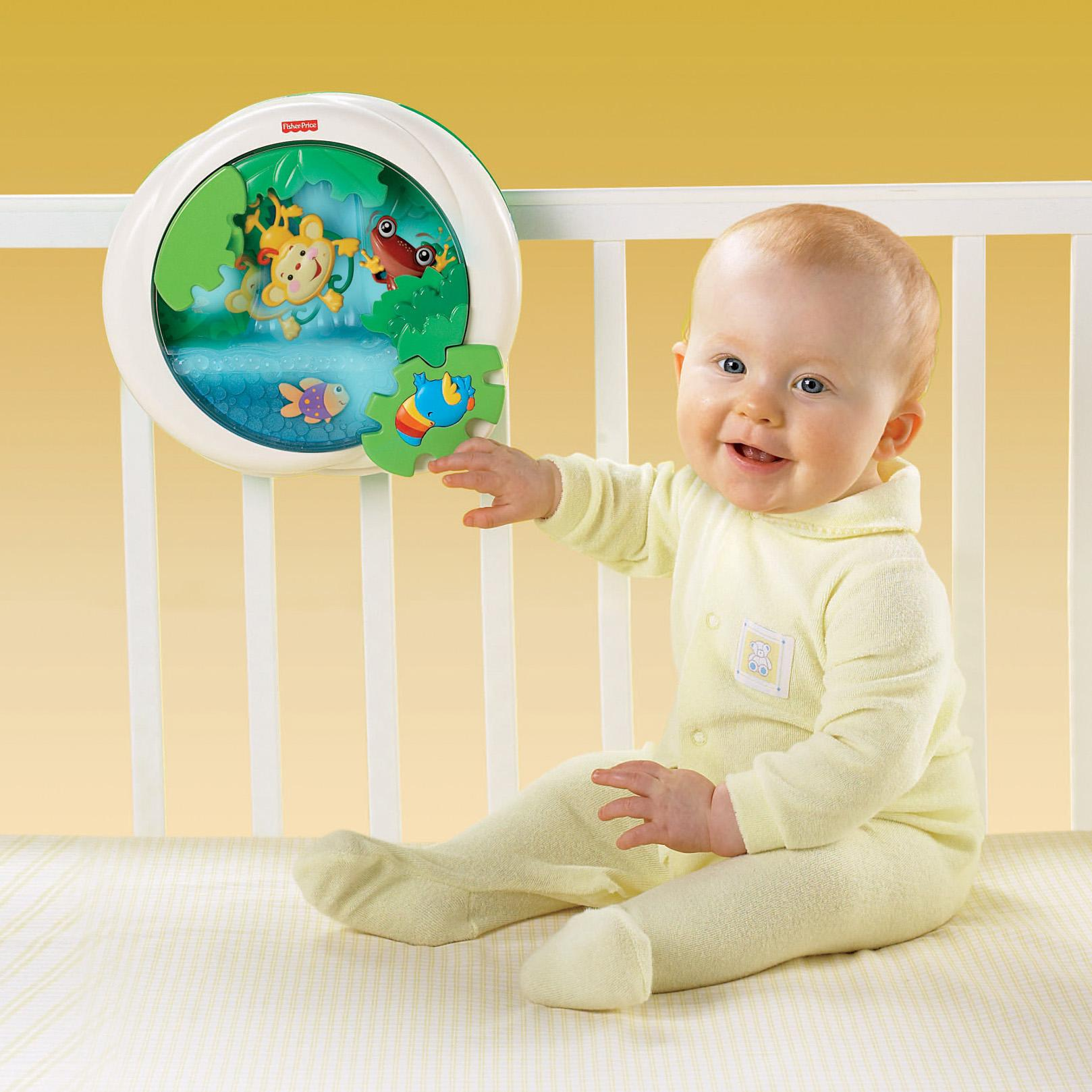 Fisher Price Rainforest Waterfall Peek A Boo Soother Ebay