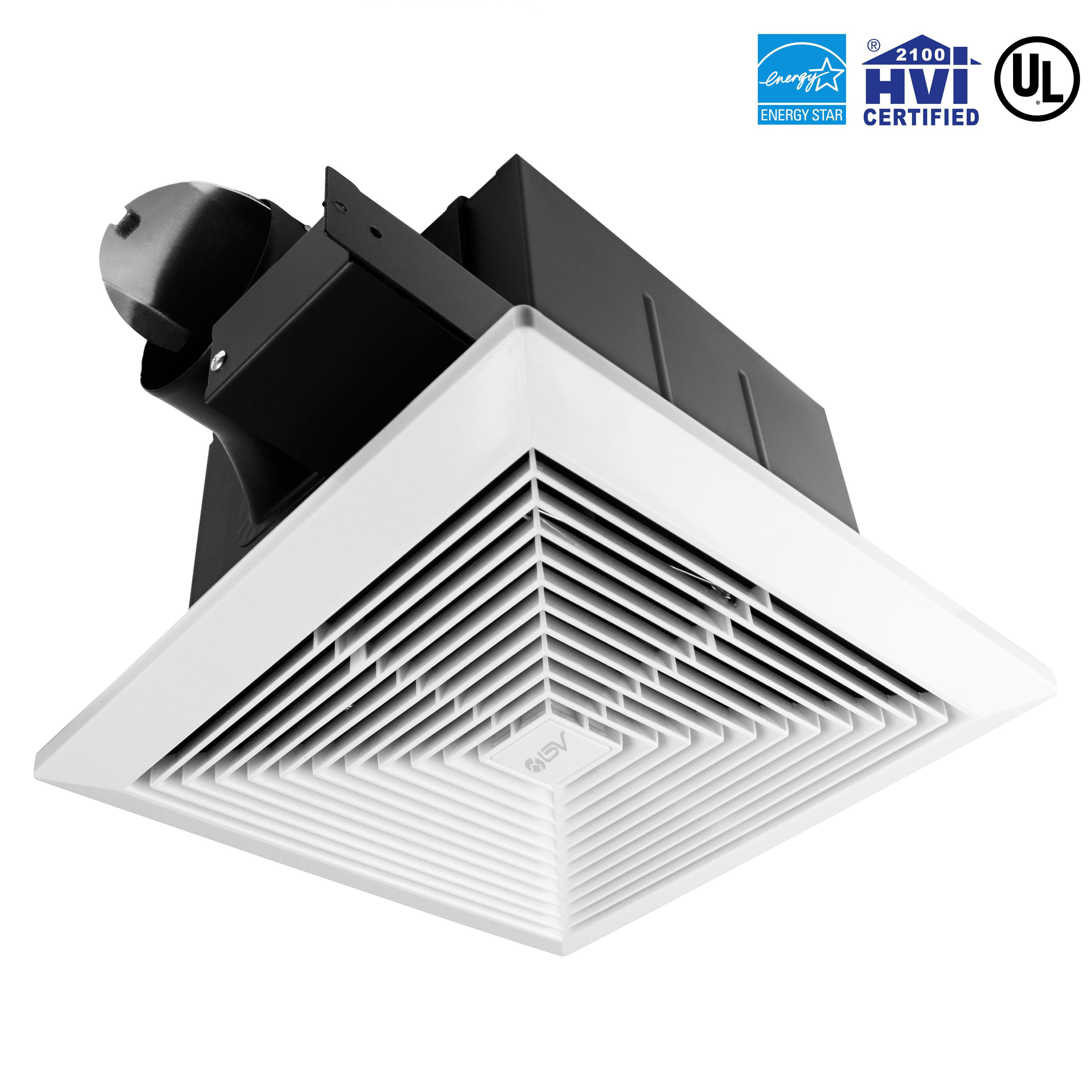Bv Ultra Quiet 90 Cfm 0 7 Sone Bathroom Ventilation And Exhaust Fan Bathroom Fixture