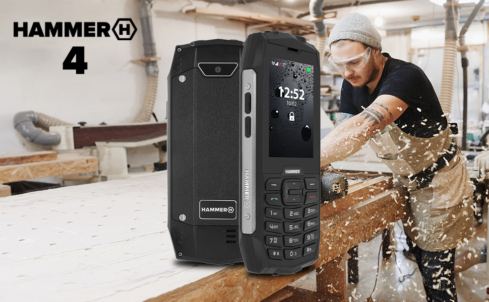 hammer 4, teléfono de trabajo, teléfono resistente, teléfono impermeable