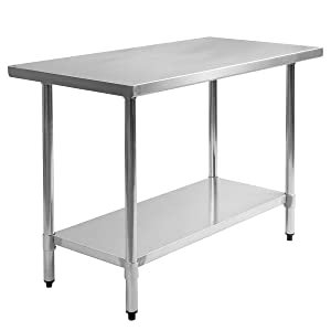 Used Stainless Steel Tables >> Amazon Com Ez Funshell Tl30205 30 X 48 Steel Commercial Kitchen