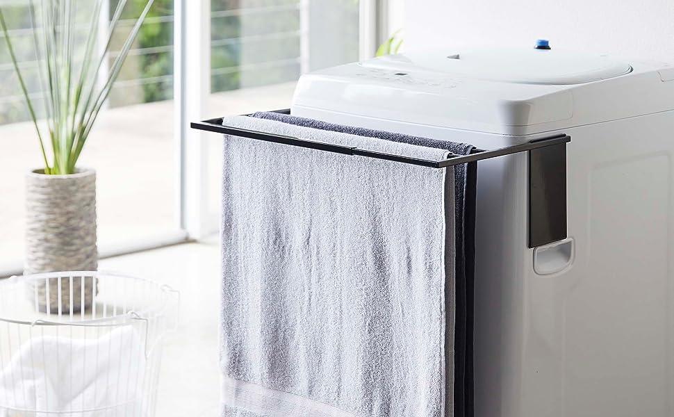4874 マグネット 洗濯機 収納 タオルハンガー
