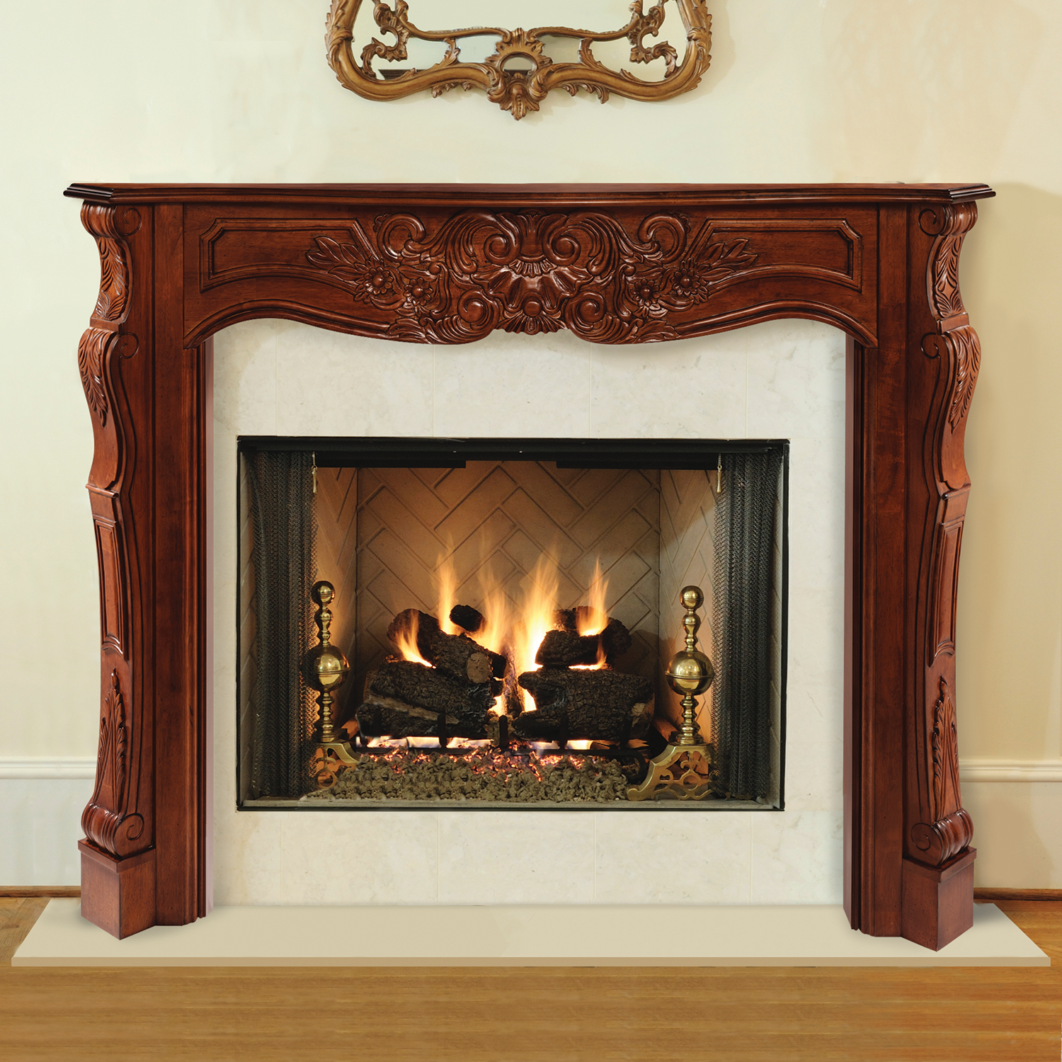Pearl mantels 495 72 auburn arched 72 inch for Fireplace and mantel