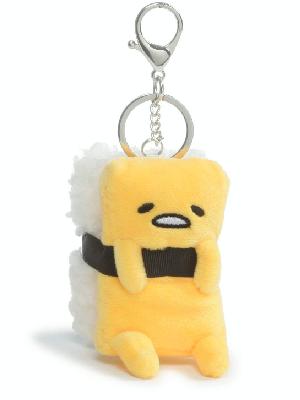 1x Gudetama egg keychain squishy yolk  figure keychains brand new