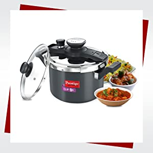 5L CLIP-ON HARD ANODISED PRESSURE COOKER