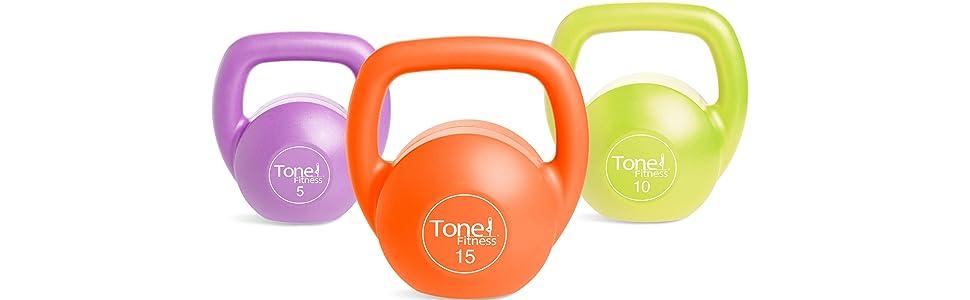 NEW Plastic Tone Fitness 10lb Kettlebell
