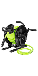 flexzilla manual open face portable air hose reel
