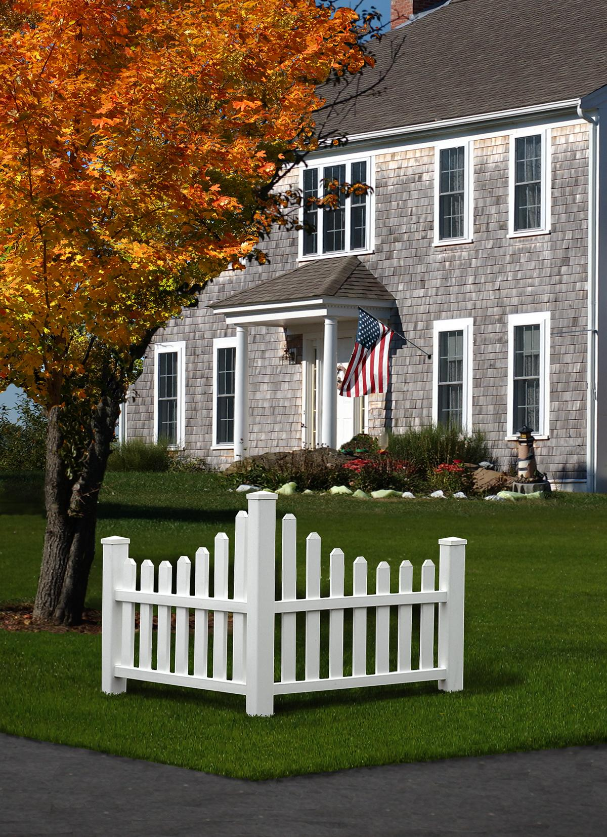 Amazon new england arbors country corner picket outdoor define your home and your neighbourhood your country corner picket fence baanklon Images