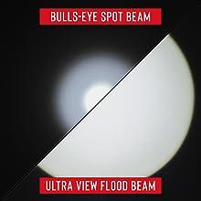 two beams bulls eye spot beam ultra view flood beam