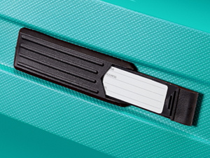 Bon Air; American Tourister; Suitcase; Turquoise; ID tag