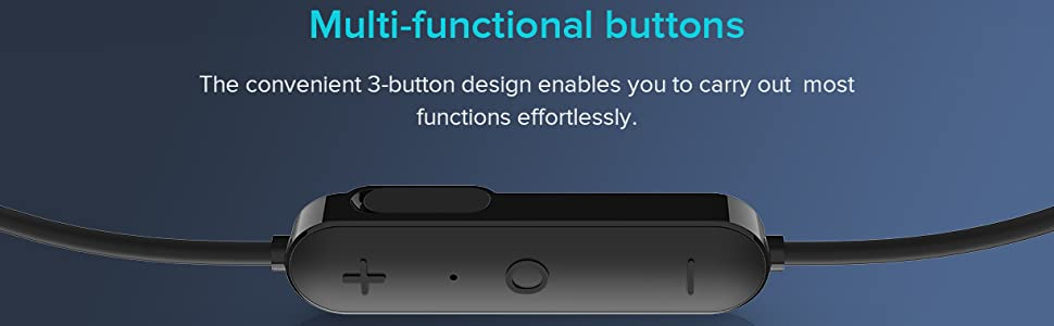 multi functional button, volume