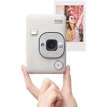 """Fujifilm Instax Mini LiPlay Blush Gold Fotocamera Ibrida Istantanea e Digitale, Registra 10"""" di Audio sulla Foto con la Funzione """"Sound"""", Remote Shooting e Bluetooth, Foto Formato 62 x 46 mm"""