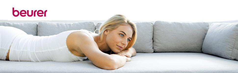 beurer mg 205 shiatsu sitzauflage r ckenmassage licht und w rmefunktion schwarz grau amazon. Black Bedroom Furniture Sets. Home Design Ideas