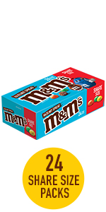 M&M'S Hazelnut Spread Chocolate Candy 24 Pack Share Size