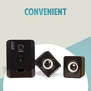 Zinq Technologies ZQS-2100 Melos USB 2.1 Computer Multimedia Speaker (Black)