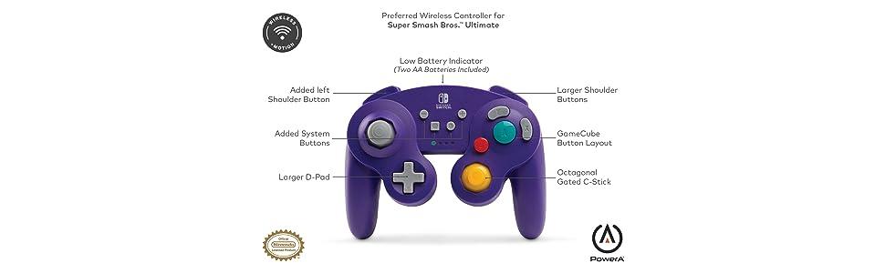 Mando Inalámbrico GameCube, Color Negro (Nintendo Switch): Amazon.es: Videojuegos