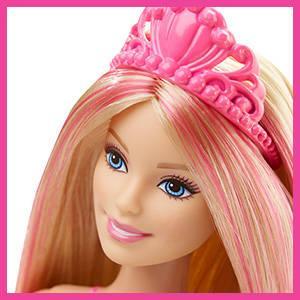 Barbie cheveux qui changent de couleur dans l'eau