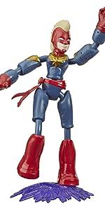 Bendy Figures; Captain Marvel;