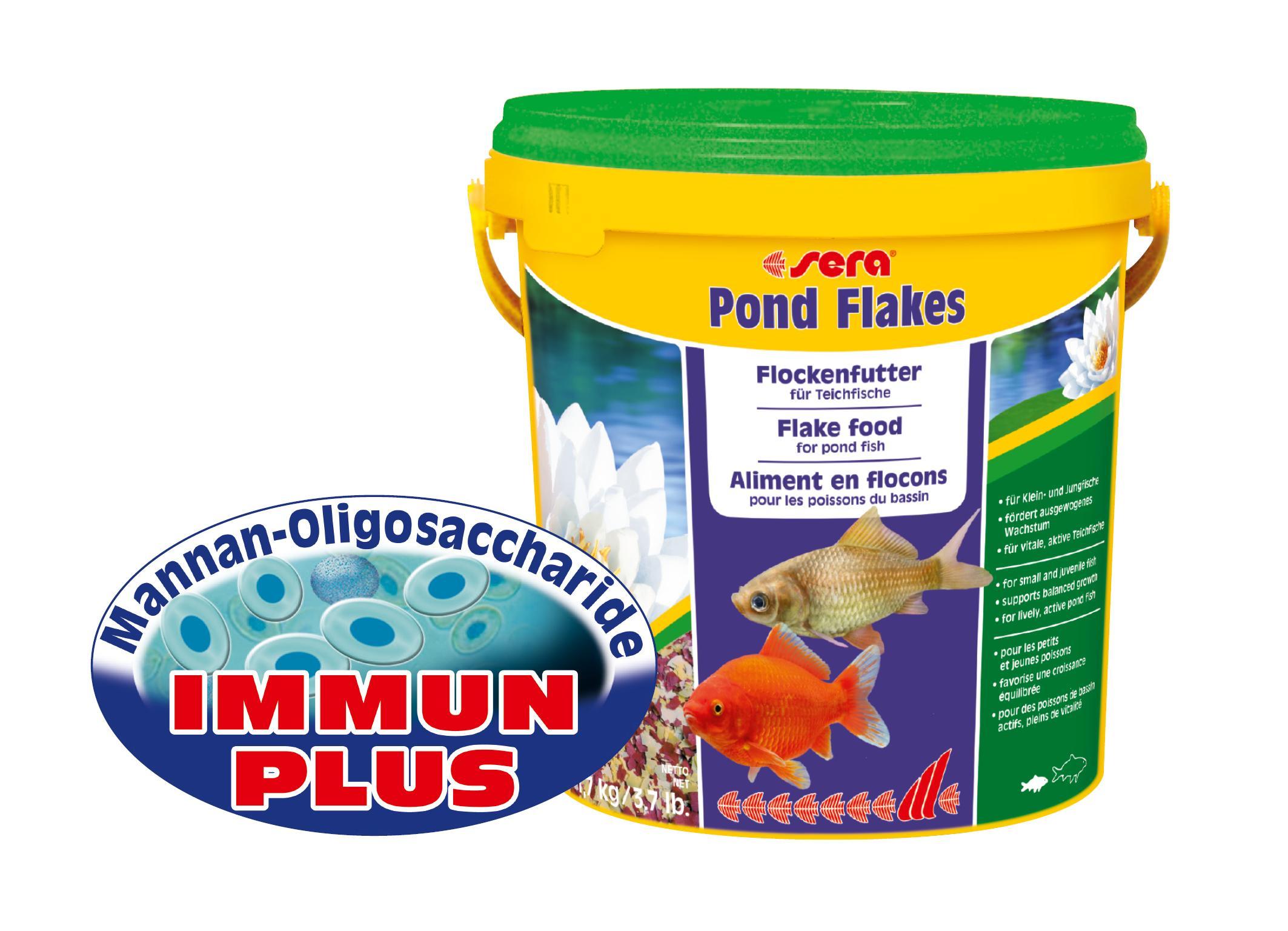 Sera 07090 pond flakes 10 l das lange schwimmende for Teichfische arten