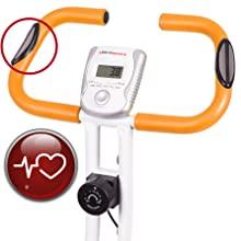 Ultrasport Unisex F-Bike, pantalla LCD, entrenador casero plegable, niveles de resistencia ajustables, con sensores de pulso de mano, entrenador de bicicleta plegable, para atletas y mayores: Amazon.es: Deportes y aire libre