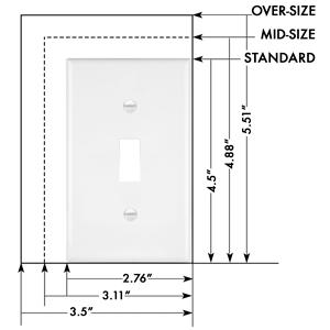 Enerlites 8811 W 10pcs Toggle Wall Plate Standard Size 1