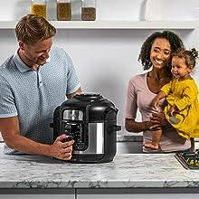 Ninja OP500EU Foodi MAX Multi-Cooker, Freidora de Aire, Olla a Presión, Gris y Negro: Amazon.es: Hogar