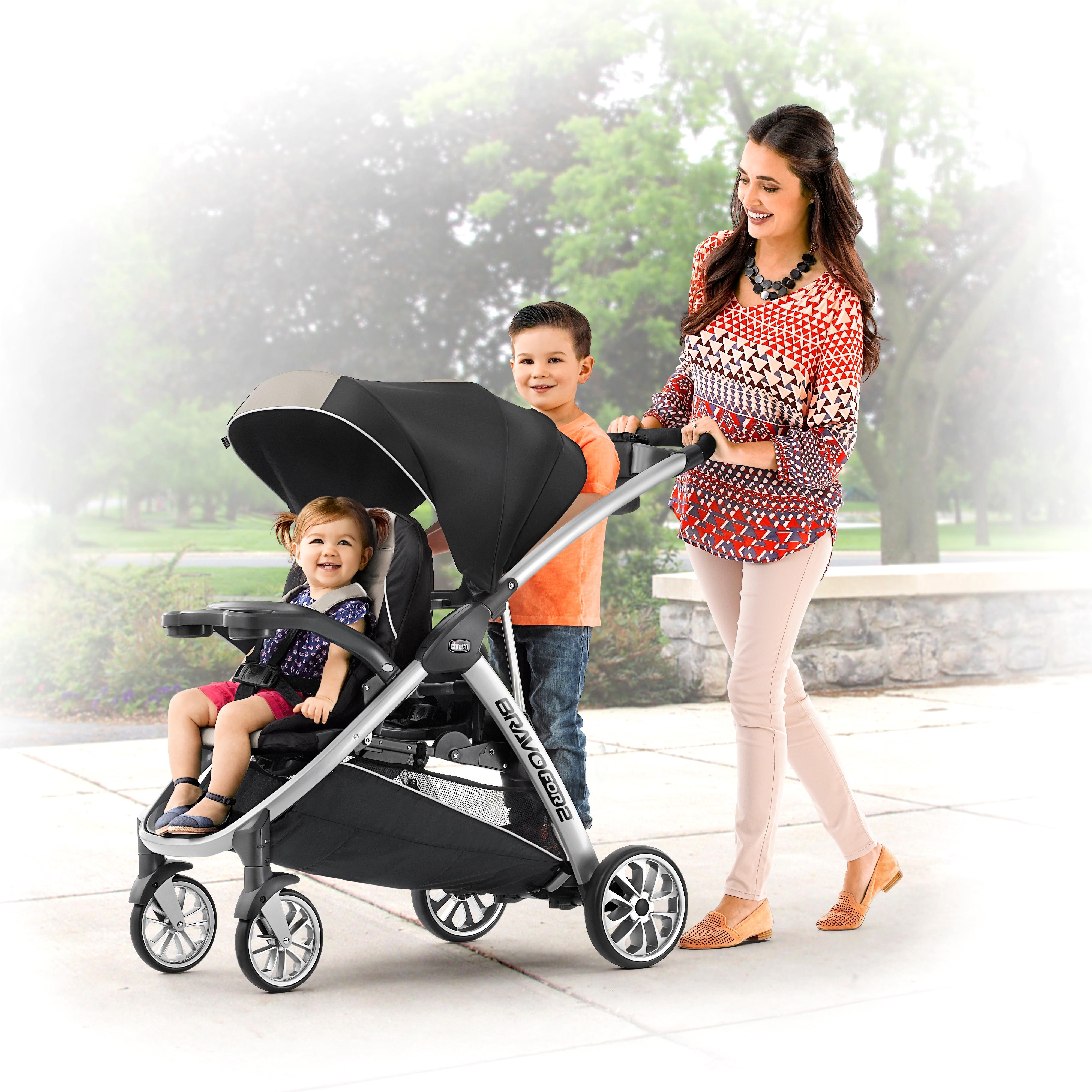 Amazon Com Bravofor2 2 Passenger Double Stroller Zinc Baby