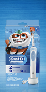 Oral-B Kids Electric Toothbrush with sensitive brush head, 3 years