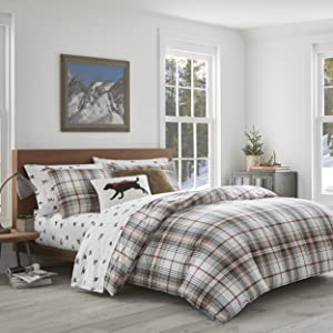Amazon Com Eddie Bauer Flannel Collection 100 Premium Cotton Bedding Sheet Set Pre Shrunk Brushed For Extra Softness Comfort And Cozy Feel Queen Montlake Plaid Home Kitchen