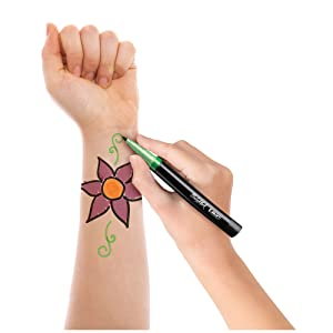 Cosmetic-quality markers let you create unique temporary tattoos