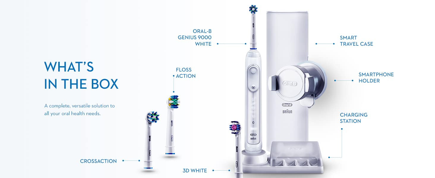 Oral-B Genius 9000 White What's in the Box