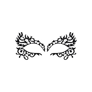 lady gaga, huislaboratoria, gezichtsstickers, gezichtsdecal, tijdelijke tattoo, gezichtsmasker, burlesque