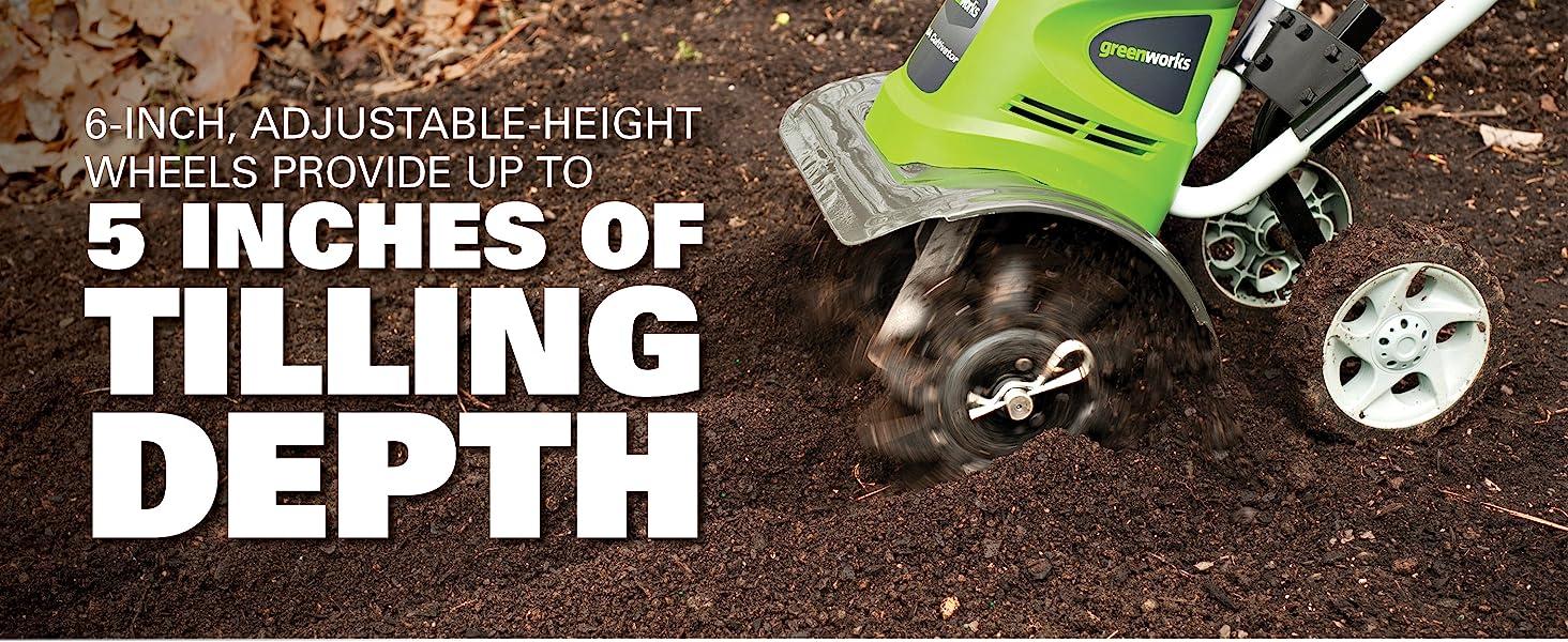 Amazon.com: GreenWorks 27072, timón con cable, 8 ...