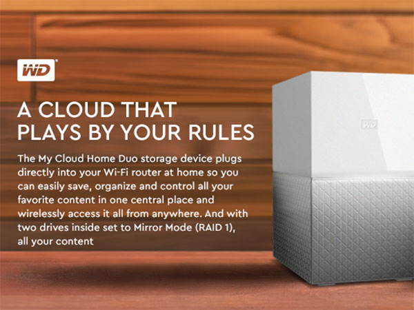 WD 4TB My Cloud Home Duo Personal Cloud Storage - Dual Drive
