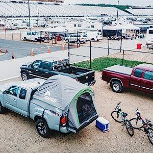 camping, tent, truck tent