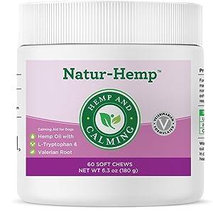 hemp oil calming anxiety relief valerian l-tryptophan
