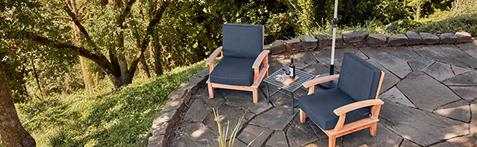 Montlake FadeSafe Water Resistant Patio Cushion Set by Classic Accessories