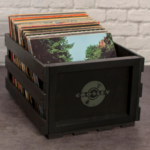 wood crate for record storage