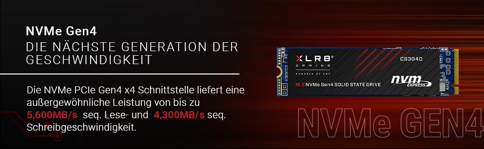 Pny Xlr8 Cs3040 M 2 Nvme Gen4 X4 Internal Solid State Computer Zubehör
