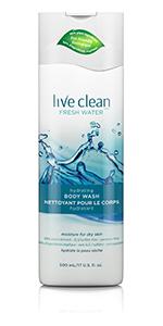 Live Clean Fresh Water Body Wash
